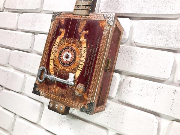 sold perdomo habano 3 string cigar box guitar gipson shoemaker iii maker. Black Bedroom Furniture Sets. Home Design Ideas